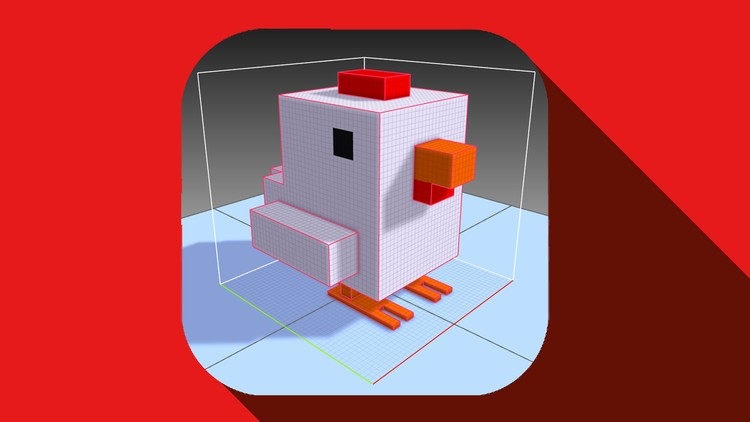 Online Training 3D Pixel Art for non artist  Crossy Road Modeling  Unity 3D  by Udemy